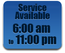Convenient 24 hour service