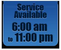 Convenient 24 hour service